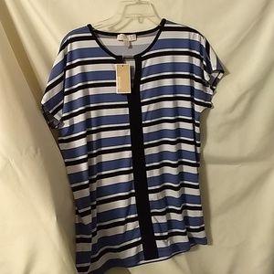Women's Micheal Kor striped blouse.